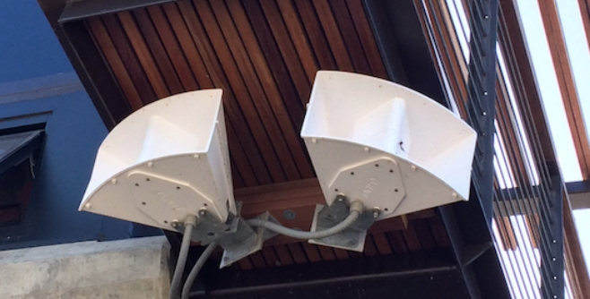 Picture of LRAD DS-60 Horn system installed at a lifeguard tower