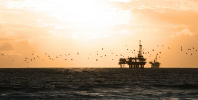 Image of a deep sea oil platform